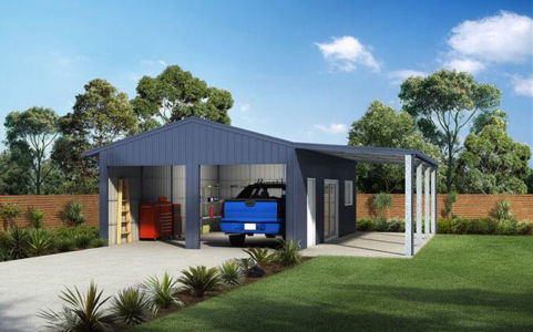 deluxe-garage-with-eaves-and-awning