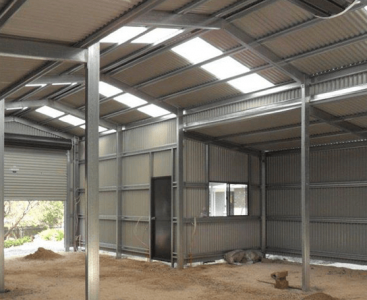 Large Shed Interior